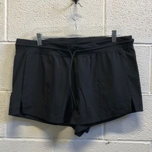 Lululemon black short sz 12 no liner 62502